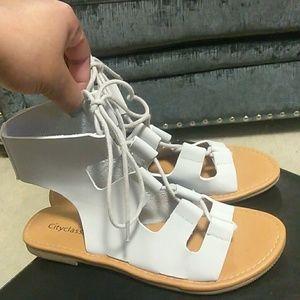 NWOT Brand New Never Worn Grey Roman Sandals